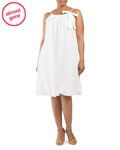 Plus Made In Italy Linen Dress