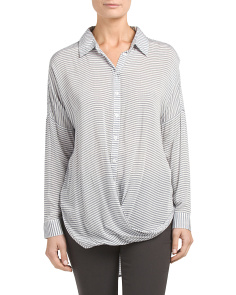 Stripe Twist Front Shirt