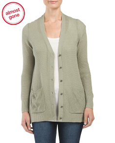 Perforated Two Pocket Cardigan