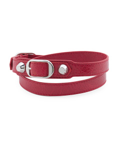 Made In Italy Arena Classic Triple Wrap Red Bracelet