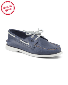 Leather A/O 2 Eye Boat Shoe