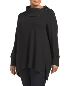 Plus Snap Collar Tunic