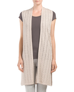 Pointelle Stitch Sweater Duster