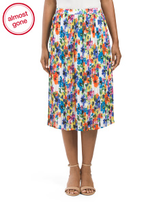 Printed Soft Pleated Skirt