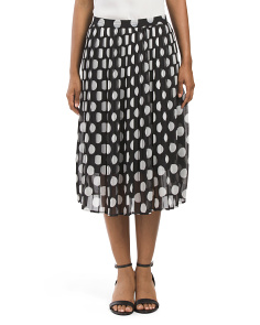 Polka Dot Soft Pleated Skirt