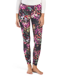 Floral Pixelated Baselayer Legging