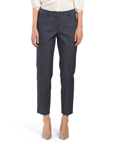 Ankle Cut Dressy Denim Pant