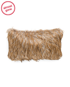 14x24 Faux Fur Shag Pillow