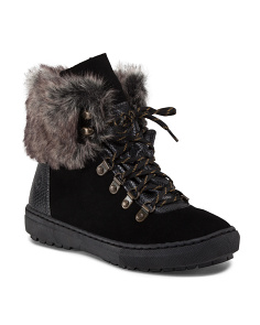 Faux Fur Trim Sneaker Bottom Bootie