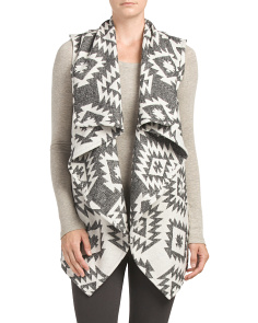 Juniors Printed Sleeveless Vest