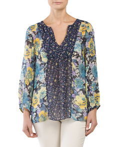 Silk Thistle Boho Top