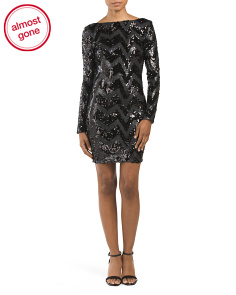 Made In USA Lola Sequin Bodycon Dress
