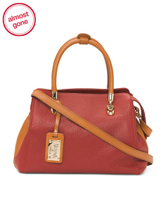 Made In Italy Leather Pendant Satchel