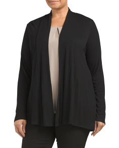 Plus Shawl Collar Cozy Cardigan