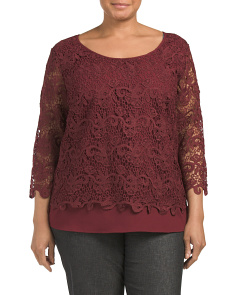 Plus Overlay Knit Top