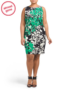 Plus Astrina Floral Printed Dress