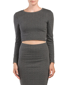 Juniors Barrington Jacquard Crop Top