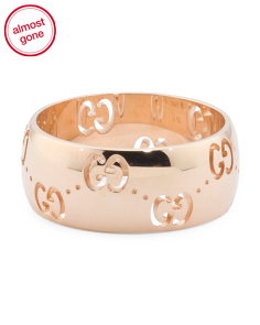 Made In Italy 18k Rose Gold Icon Bold Ring