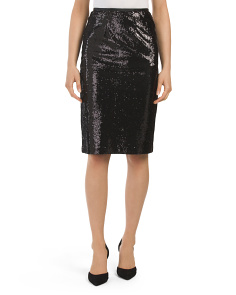 Juniors Josie Sequin Pencil Skirt