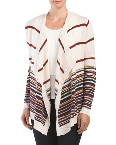 Juniors Set In Open Flyaway Cardigan