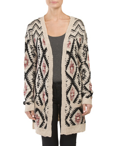 Juniors Diamond Pattern Cardigan