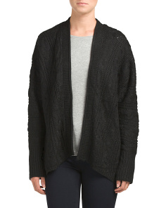 Juniors Cable Knit Cardigan