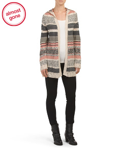Juniors Long Sleeve Open Cardigan