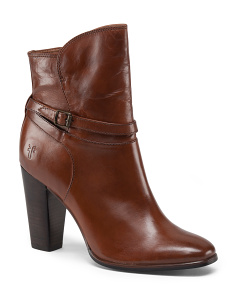 Leather Zip Ankle Bootie