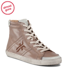 Leather High Top Sneaker
