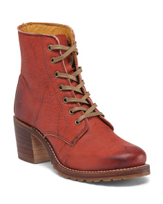 Made In USA Leather Lace Up Bootie