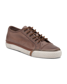 Leather Low Lace Up Casual Shoe