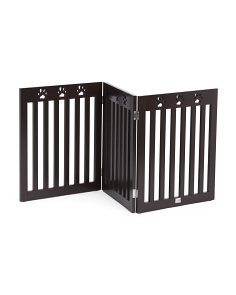 3 Panel Brown Paw Pet Gate