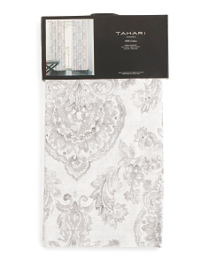 52x96 Set Of 2 Damask Print Curtains