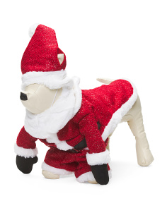 Santa Dog Costume With Legs