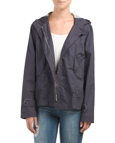 Juniors Hooded Lined Jacket