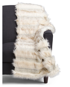 50x60 Wampanoag Faux Fur Throw