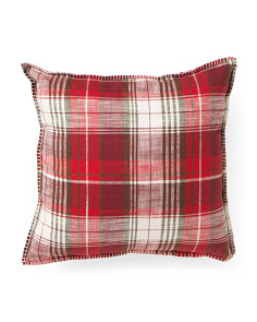 20x20 Made In India Plaid Pillow