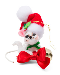 3in Ring In The Season Mouse Ornament