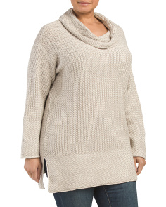Plus Cowl Neck Sweater Tunic