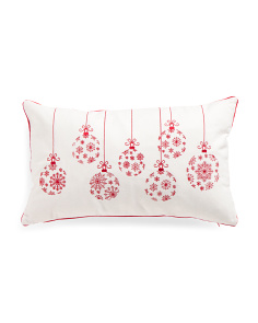 14x24 Snowflake Ornament Pillow