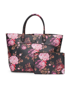 Rosaline Rose Coated Canvas Tote
