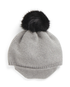 Cashmere Ladies Peak Hat