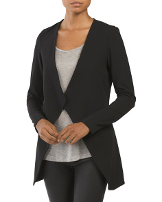 Made In Italy Open Drape Cardigan