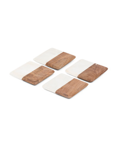 Made In India Set Of 4 Marble Coasters
