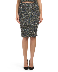 Mosaic Sequin High Waisted Skirt