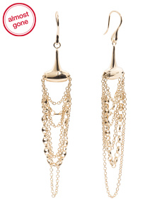 Made In Italy 18k Gold Marina Chain Earrings