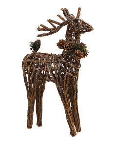 22in Elmwood Pinecone Trim Deer