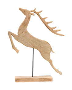Made In India Natural Wood Reindeer