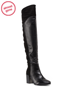 Leather Over The Knee Tall Boot