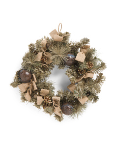 26in Mixed Glittered Pine Wreath